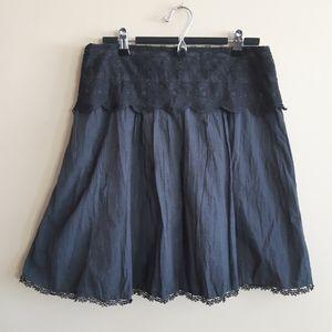 Soyaconcept | lace waistband a line midi skirt
